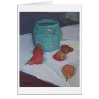 'Pears and Ceramic Pot' - a note from home Card