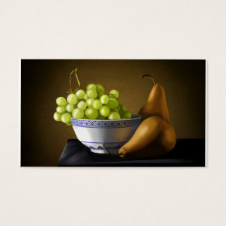 Pears and Grapes Fruit Bowl Still Life Business Card