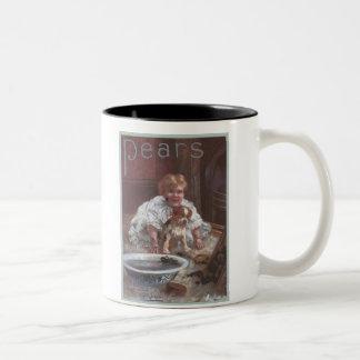 Pears Child and Dog Two-Tone Mug