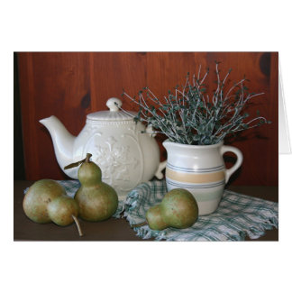 Pears & Pottery Notecard