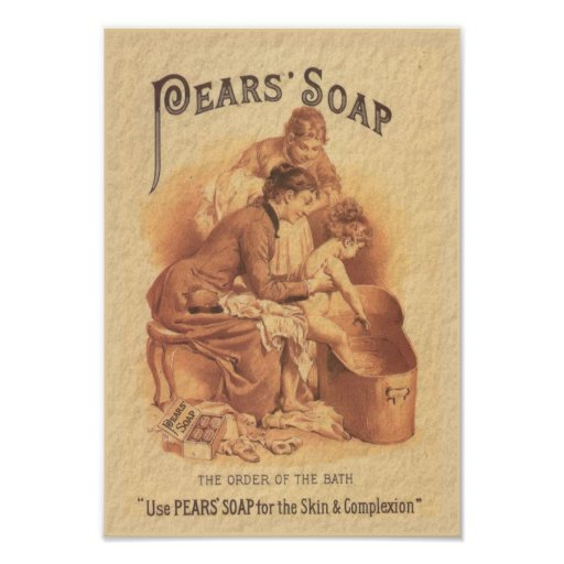 Pears Soap Bathing the Child Print
