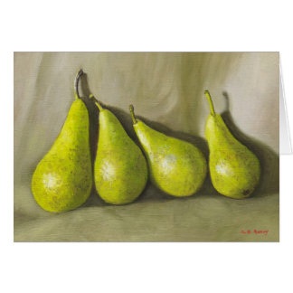 Pears. Still-life Greeting Card
