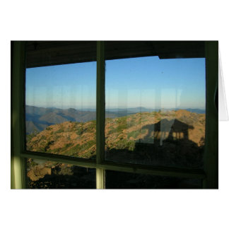 Pearsoll Peak Fire Lookout and Shadoiw Greeting Card