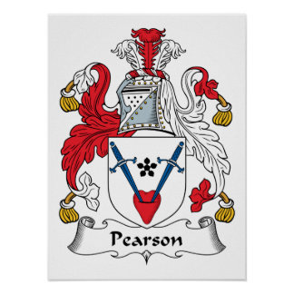 Pearson Family Crest Poster