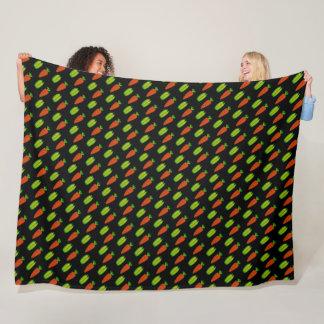 Peas and Carrots Fleece Blanket