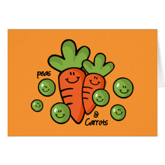 Peas And Carrots Greeting Cards