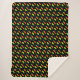 Peas and Carrots Sherpa Blanket