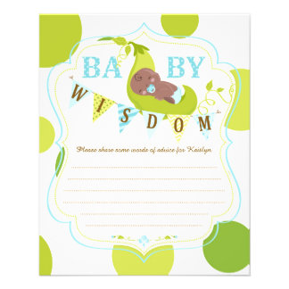 Peas in a Pod African Baby Boy Advice Card 11.5 Cm X 14 Cm Flyer
