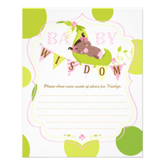 Peas in a Pod African Baby Girl Advice Card 11.5 Cm X 14 Cm Flyer