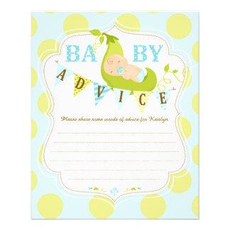 Peas in a Pod Baby Boy Advice Card 11.5 Cm X 14 Cm Flyer