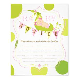 Peas in a Pod Baby Girl Advice Card 11.5 Cm X 14 Cm Flyer