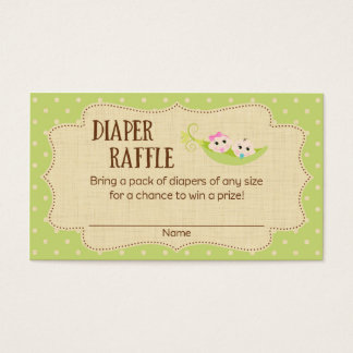 Peas In A Pod Baby Shower Diaper Raffle Tickets