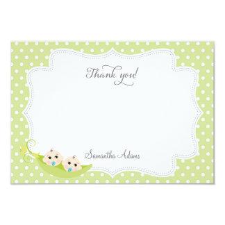 Peas In A Pod Thank You Card 9 Cm X 13 Cm Invitation Card