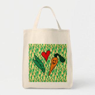 Peas Love Carrots, Reusable Grocery Shopping Bag