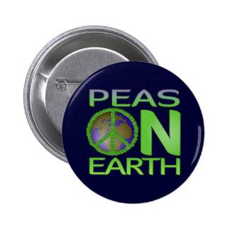 Peas on Earth 6 Cm Round Badge
