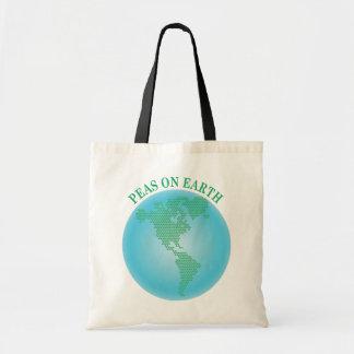 Peas On Earth Budget Tote Bag