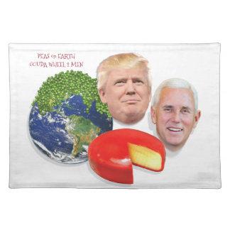Peas on Earth Gouda Wheel 2 Men Trump & Pence Placemat