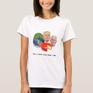Peas on Earth Gouda Wheel 2 Men Trump & Pence T-Shirt