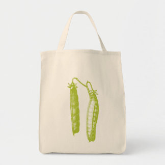 Peas Organic Grocery Tote Canvas Bags