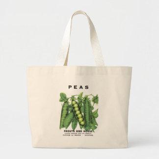 Peas Seed Packet Large Tote Bag