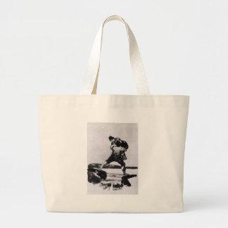 Peasant Carrying a Woman by Francisco Goya Jumbo Tote Bag