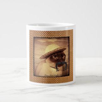 Peasant Cat Large Coffee Mug