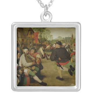 Peasant Dance,  1568 Silver Plated Necklace
