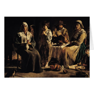 Peasant Family in an Interior, c.1643 Card