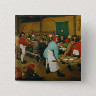 Peasant Wedding , 1568 15 Cm Square Badge