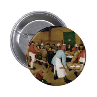 Peasant Wedding by Pieter Bruegel the Elder 6 Cm Round Badge