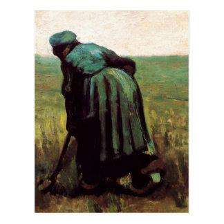 Peasant Woman Digging by Vincent van Gogh Postcard