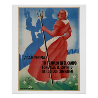 Peasant! Your work in the field_Propaganda Poster