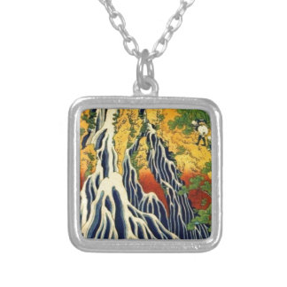 Peasants and Waterfall Silver Plated Necklace