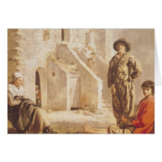 Peasants Before their House, c.1641 Card