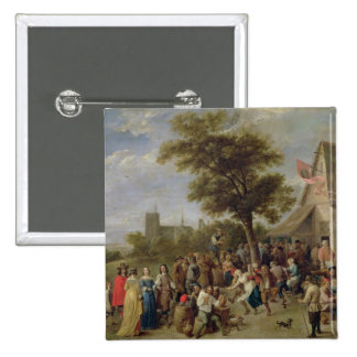 Peasants Merry-Making, c.1650 (oil on canvas) 15 Cm Square Badge