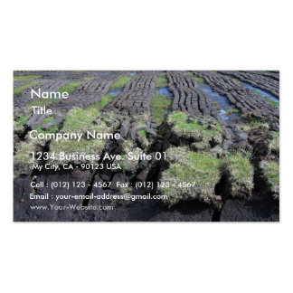 Peat Cutting In Ireland Business Card Templates