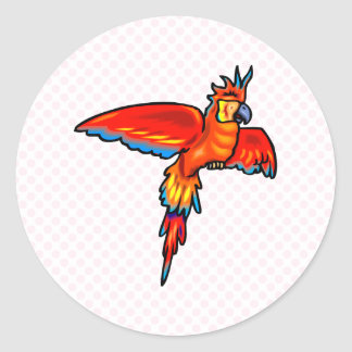 Peata Parrot Round Sticker