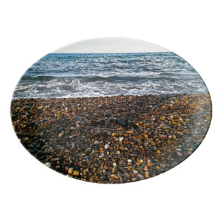 Pebble beach porcelain serving platter