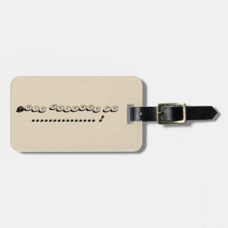 Pebble luggage tag