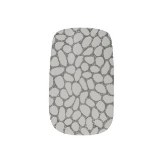 Pebble Mosaic Negative Pattern Minx Nail Art