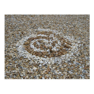 Pebble spiral postcard