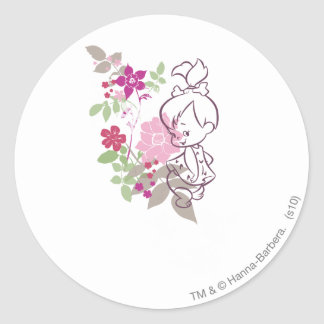 PEBBLES™ A Cutie In The Flowers Round Sticker