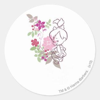 PEBBLES™ A Cutie In The Flowers Sticker