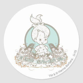 Pebbles A Little Birdy Told Me Classic Round Sticker