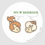 PEBBLES™ and Bam Bam Love Bedrock Round Sticker