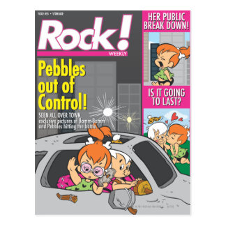 PEBBLES™ and Bam Bam Out of Control Postcard