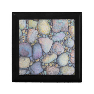 Pebbles and River Rock in Pastel Pencil Gift Box