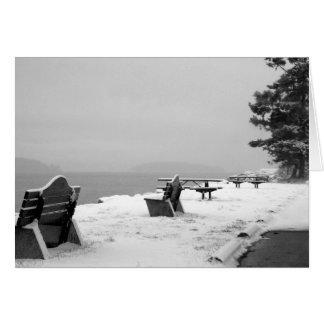 Pebbles Beach Winter Scene 3 Card