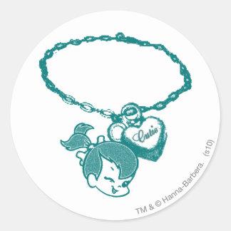 PEBBLES™ Cutie Chain Round Sticker