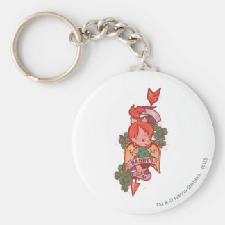 PEBBLES™ Daddy's Girl  1 Basic Round Button Key Ring